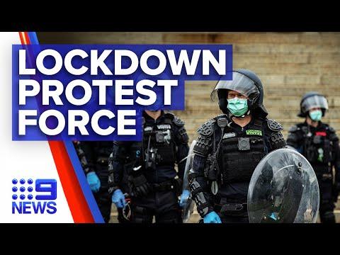 Coronavirus: Police fine dozens from anti-lockdown protests | 9 News Australia