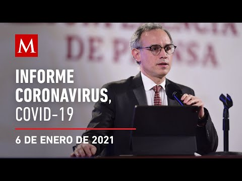 Informe diario por coronavirus en México, 6 de enero de 2021