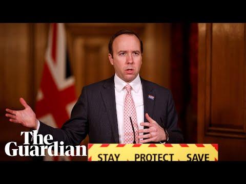 Coronavirus UK: Matt Hancock holds press briefing – watch live